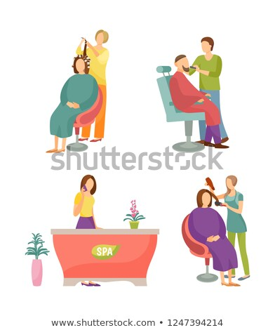 Spa salon receptionist barbier man vector Stockfoto © robuart