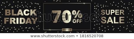 black · friday · vásár · akció · százalék · el · felfelé - stock fotó © robuart