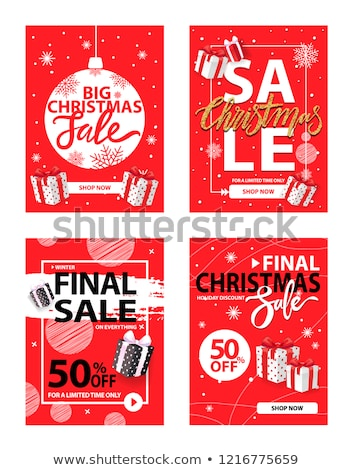 Final Christmas Sale, Winter Exclusive Discounts Stock photo © robuart