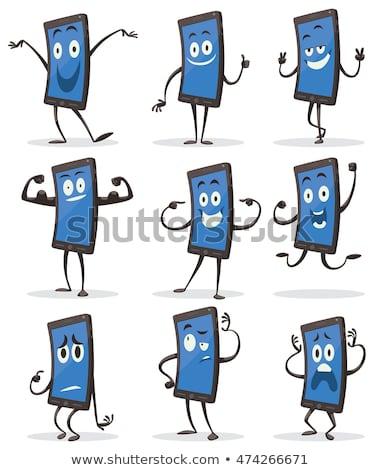 komórek · telefonu · komórkowego · maskotka · graficzne - zdjęcia stock © krisdog