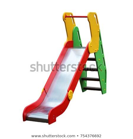 красный слайдов площадка оборудование иллюстрация спорт Сток-фото © colematt