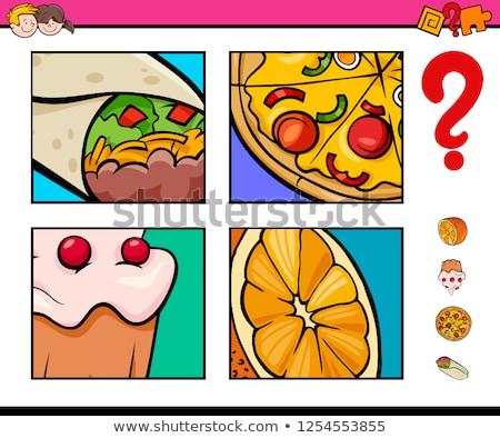 предполагать продовольствие объекты деятельность игры Cartoon Сток-фото © izakowski