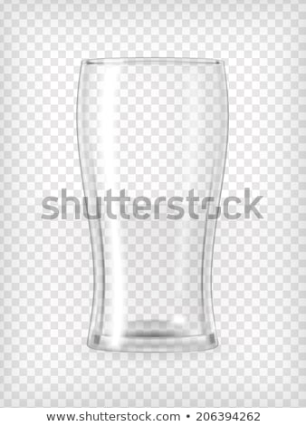 Transparent Glass Vector. Tableware Template. Empty Clear Glass Cup. For Water, Drink, Wine, Alcohol Stock photo © pikepicture