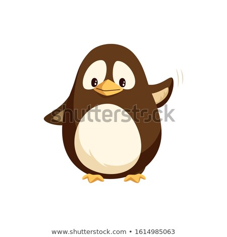 Penguin Waving Left Wing and Sending Greetings Stock photo © robuart