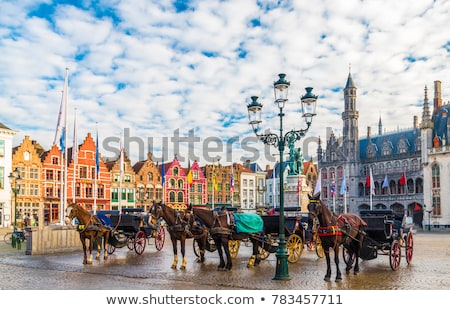 The Markt place with the Belfort as background Stock photo © artjazz