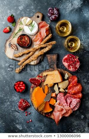 Apéritif table collations fromages viande variété Photo stock © grafvision