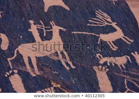 рок · Живопись · африканских · человека · стены · аннотация - Сток-фото © jossdiim