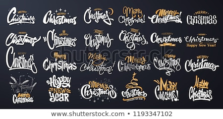 neşeli · Noel · happy · new · year · poster · ayarlamak · posterler - stok fotoğraf © robuart