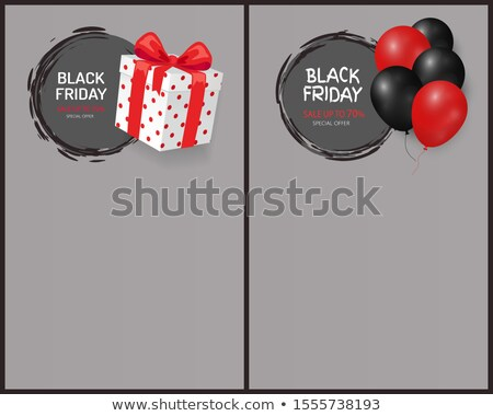 Black Friday Sale, Gift Box, Wrapped in Dotted Paper Stock photo © robuart