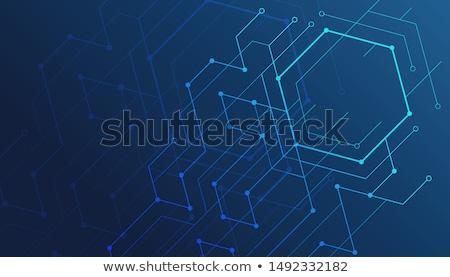 синий технологий аннотация геометрический цифровой линия Сток-фото © alexaldo