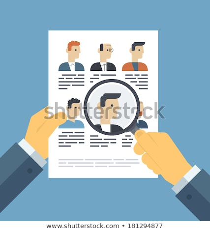 Search for candidate - flat design style illustration Stock photo © Decorwithme
