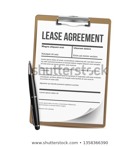 Lease Vector. Home Rent Blank Document Lease. Contract Loan Property. Illustration Stock photo © pikepicture