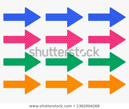 set of thick arrows in different colors and patterns Stock photo © SArts