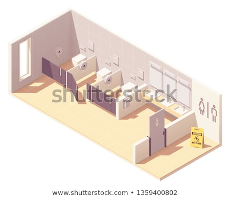 Vector isometric public pay toilet Stock photo © tele52