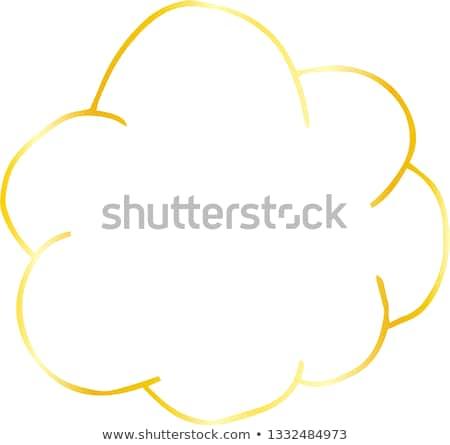 Szorstki szkic cute Chmura typu ramki Zdjęcia stock © Blue_daemon
