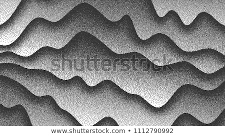 Pointillism, Abstract Waves, Curves Lines Vector Background Stockfoto © pikepicture