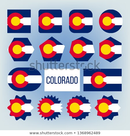 Colorado State Various Shapes Vector Flags Set Stock photo © pikepicture