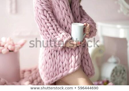 午前 · カップ · コーヒー · ソフト · 花 - ストックフォト © ElenaBatkova