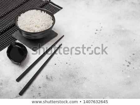 tay · gıda · pirinç · taze · soya · peyniri · beyaz - stok fotoğraf © denismart