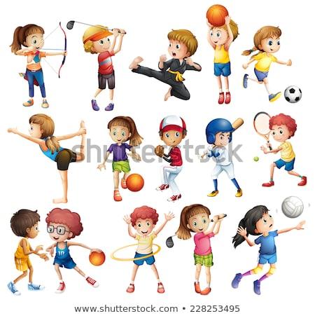 kinderen · spelen · sport · witte · kinderen · golf · kinderen - stockfoto © bluering