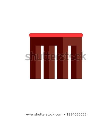 Cuadrados pequeño taburete suave asiento Foto stock © robuart