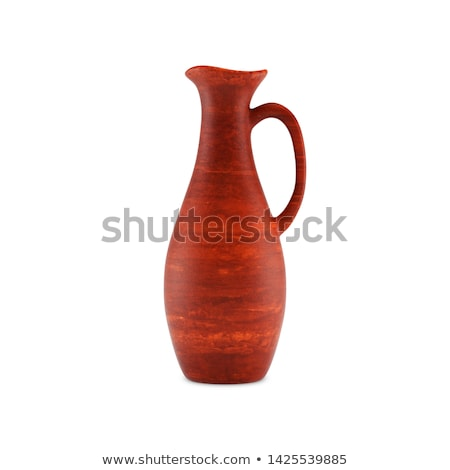 clay jug for wine with a handle 3d illustration stock photo © kup1984