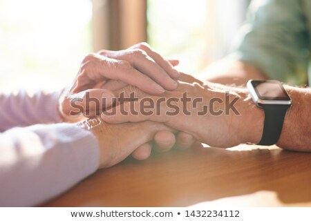 Köteg kezek kortárs támogató idős férj Stock fotó © pressmaster