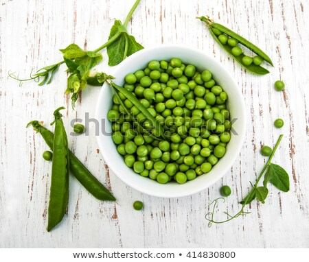 Fresh Peas In Pod And Bowl Stock fotó © almaje