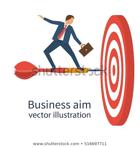 управления цель Стрелки портфель бизнеса вектора Сток-фото © robuart