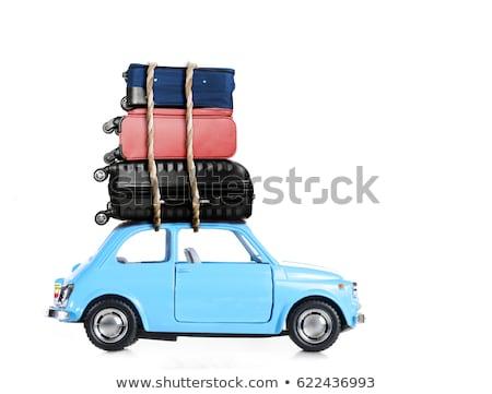 車 スーツケース 孤立した 白 ストックフォト © balasoiu