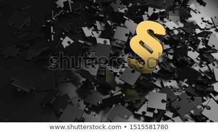 Puzzle or paragraphe relevant pièces de puzzle 3d illustration Photo stock © limbi007