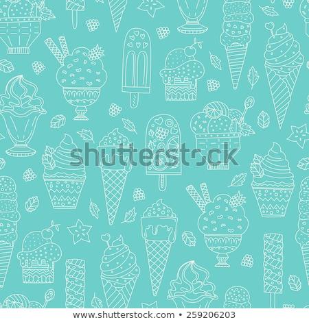 Escavar sorvete copo fruto vetor Foto stock © pikepicture