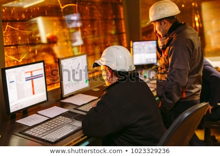 Control Room Engineer. Power plant control panel.  Stock photo © Lopolo