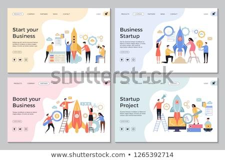 sikeres · startup · internet · oldal · illusztráció · tele - stock fotó © robuart