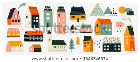 house in old style design building estate icon stock photo © robuart