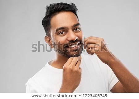 temizlik · dişler · diş · ipi · sevimli · kız · başlatmak - stok fotoğraf © dolgachov