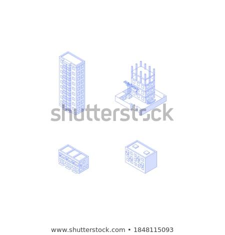 Cityscape monocromático edifícios vetor construção novo Foto stock © robuart