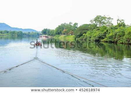 ボート 川 ラフティング 自然 ベクトル ストックフォト © robuart