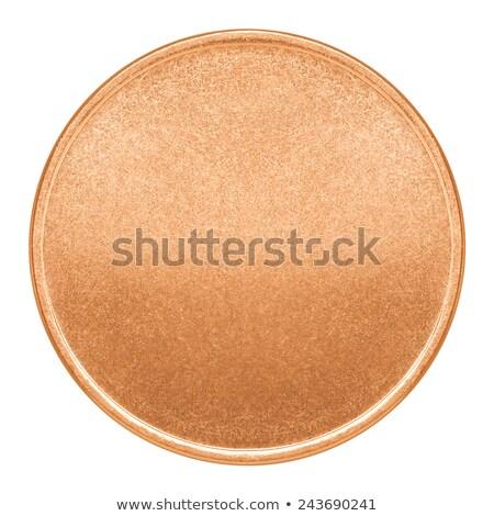 Cuivre pièce 3d illustration isolé blanche argent Photo stock © montego