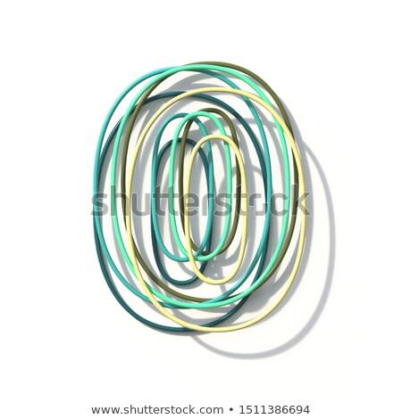 Three colors line font Number 0 ZERO 3D Stock photo © djmilic