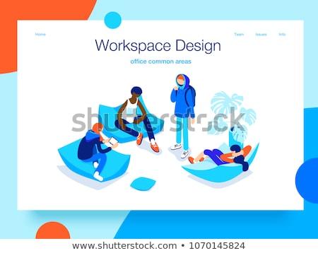 Aterrissagem página produtivo cooperação trabalhar organização Foto stock © RAStudio