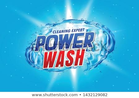 çamaşırhane deterjan güç yıkamak paketleme reklam Stok fotoğraf © SArts