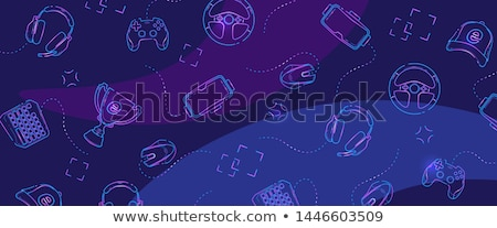 Esports and games linear banner templates set Stock photo © Decorwithme