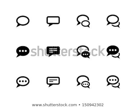 speech bubble icon set Stock photo © bspsupanut