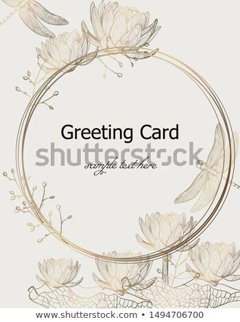 Libel vector glanzend lijn arts Stockfoto © frimufilms