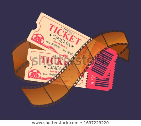 Cinema Ticket Access and Shots on Recorded Tape Stock photo © robuart