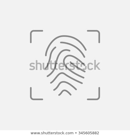 Impressão digital ícone cinza escuro negócio chave imprimir Foto stock © tashatuvango