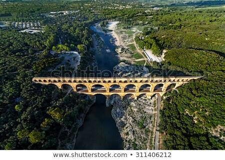 Aerial of aqueduct. Stock photo © iofoto