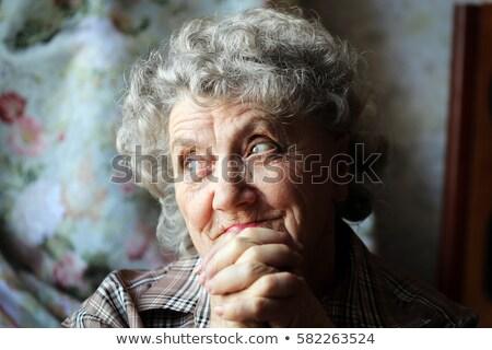 悲しい 肖像 シニア 女性 スタジオ 手 ストックフォト © Lopolo