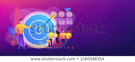 Interno marketing bandeira grande alvo Foto stock © RAStudio